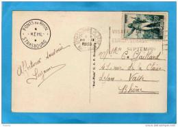 N°314-rouget De L´isle+ Flamme Foire  Europ Strasbourg 18-9 1936-*sur Cart Pont Du Rhin - Poststempel (Briefe)