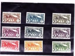 CONGO : Y&T : 113 à 121* - Congo Français (1891-1960)