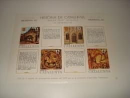 ESPAÑA - HISTORIA DE CATALUNYA - HOJA Nº 25 - BAIXA EDAT MITJANA (LA GENERALITAT) ** MNH - Commemorative Panes
