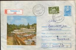 "Romania - Postal Stationery Cover 1979 Used - Sovata - Swimming Pool "" Lacul Ursu "" - Postal Stationery"