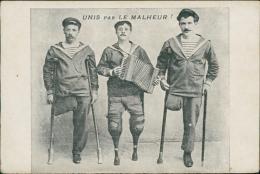 """MUSIQUE - """"Unis Par Le Malheur"""", Blessés De Guerre, Unijambistes, Accordéon, Marins, Solidarité - Musique Et Musiciens"""