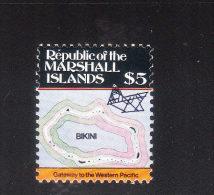 Marshall Islands 1986-87 Map $5 MNH - Marshall