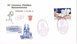 R 1035. Carta Exposicion  BARCELONA 1991. Certamen Filatelico Iberoamericano - 1931-Hoy: 2ª República - ... Juan Carlos I