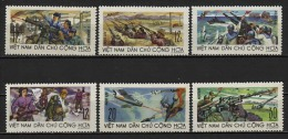 North Vietnam Viet Nam MiNr 499-504 MNH Perf Stamps - Against US War 1967 - Viêt-Nam