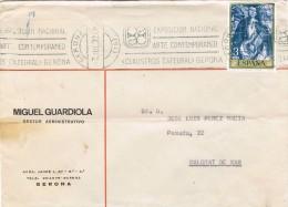 R 1042. Carta GERONA 1972. Rodillo Especial  Exposicion Arte Claustros Catedral - 1931-Today: 2nd Rep - ... Juan Carlos I