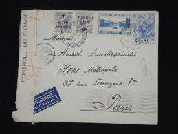 GRECE - Enveloppe De Athénes Pour Paris En 1938 Avec Controle - Cad. Athenes Poste Aérienne - à Voir - Lot P8604 - Airmail