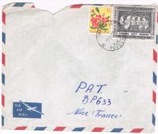 Congo Belge / N� COB 310 & 349 sur lettre ; C�D de Thisville du  01-03-1960