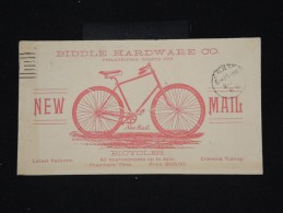 ETATS UNIS - Entier Postal De Philadelphie Voyagé En 1893 Avec Pub Au Dos Vélo - à Voir - Lot P8606