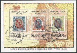 ISLAND 1993 MI-NR. Block 14 O Used (141) - Blocks & Sheetlets