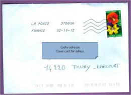 Enveloppe FRANCE: Fleur Pensée / Affection - France