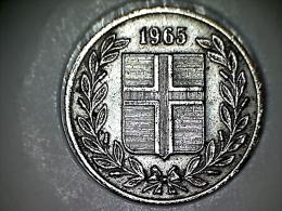 Islande 25 Aurar 1965 - Islandia