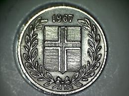 Islande 25 Aurar 1967 - Iceland