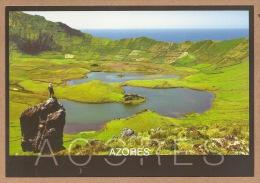 Portugal Acores/Azores - Caldeirao Ilha Do Corvo, Caldera Corvo Island, Lagoa, Lagoon, Lake Postcard - Açores