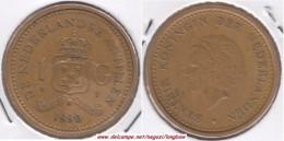 Antille Olandesi 1 Gulden 1990 Km#37 - Used - Antille Olandesi