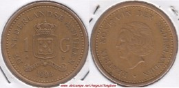 Antille Olandesi 1 Gulden 1993 Km#37 - Used - Antille Olandesi