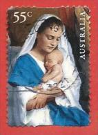 AUSTRALIA USATO - 2013 - NATALE - Mary & Child - Madonna Col Bambino - 55 C - Michel AU 4038 AUTOADESIVO - 2010-... Elizabeth II