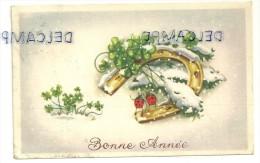 Bonne Année. Fer à Cheval Dans La Neige, Trèfles, Coccinelles. Coloprint 3307/1 - Nouvel An