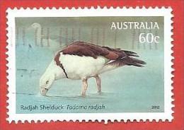 AUSTRALIA USATO - 2012 - Uccelli Acquatici - Radjah Shelduck (Tadorna Radjah) -  60 C. - Michel AU 3704 - 2010-... Elizabeth II