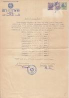 GRADES REPORT FOR 11TH GRADE, 3 REVENUE STAMPS, 1951, ROMANIA - Diplomi E Pagelle