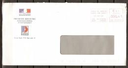 Enveloppe Officielle. Ayant Voyagé.    1er MINISTRE  /  GOUVERNEMENT  /  JOURNAL OFFICIEL - Variétés Et Curiosités