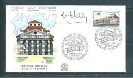 Enveloppe Premier Jour Dédicacée Avec Le  N°1651    26/9/1970 - Documents De La Poste