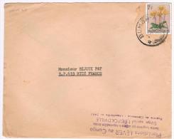 Congo Belge / N� 318 sur lettre ; C�D  de Bumba-a du 21-04-1961  ( fleurs )