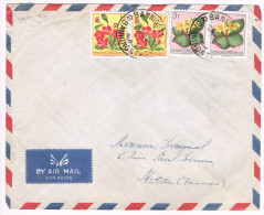 Congo Belge / N� 310 (x2) & 314 (x2) sur lettre ; C�D de Banningville ( fleurs )