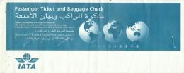 IATA AIRLINES PASSENGER TICKET AND BAGGAGE CHECK (DUBAI - KARACHI - DUBAI)