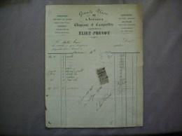 AVESNES NORD ELIET-PREVOT CHAPEAUX ET CASQUETTES CHEMISERIE GRANDE PLACE 23 FACTURE DE Xbre 1899 - 1800 – 1899