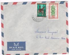 Congo Belge / N� 288 & 358 sur lettre ; C�D de stanleyville du 21-01-1960 ( animaux , masque )