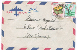 Congo Belge / N� 307 & 314  sur lettre ; C�D de Libehge du ?-12-1960 ( fleurs )