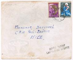 """Congo Belge / N� 360& 364 sur lettre ; C�D de Matadi  ( nativit� , animaux ) griffe """"d�pot tardif Laattijdige Afgifte"""""""
