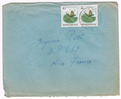 Congo Belge / N� 315 (x2) sur lettre ; C�D de ? du 26-04-1959  ( fleurs )