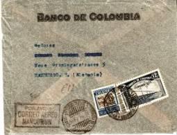 CO034 / Banco De Colombia, Brief Per  Luftpost Hamburg 1935 - Kolumbien