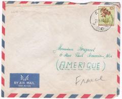 Congo Belge / N� 320 sur lettre ; C�D de Aru du 22-09-1960 ( fleurs )