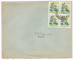 Congo Belge / N� 312 (x4) sur lettre ; C�D de Stanleyville du 28-04-1960 ( fleurs )