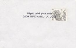 Switzerland Cover P/m 2000 Neuchatel - La Cote Depot Prive Pour Colis   (G61-64) - Svizzera