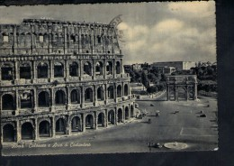 N1074 ROMA (  Rome, Italy ) COLOSSEO E ARCO DI COSTANTINO - Stab. Cesare Capello - ANNULLO LIDO OSTIA 1954 - Colosseum
