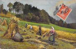 AGRICULTURE Culture - Moissons Et Fauchage - Jolie CPA Colorisée - - Landwirtschaftl. Anbau