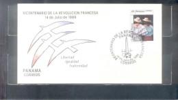 BICENTENARIO DE LA REVOLUCION FRANCESA - PANAMA - AÑO 1989 SOBRE TBE - Panama