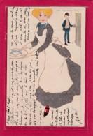 Illustrateur POPINI - THE TEA-SHOP GIRL - FEMME - Ed. Pascalis Moss & Co., Some English Girls, Series 4077 - Illustrateurs & Photographes