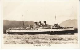 CPR 'Princess Kathleen' Canadian Steamer, C1930s Vintage Real Photo Postcard - Paquebote
