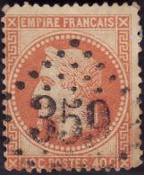 1868 -   YT  31   -  Napoleon III   40c - Gros Chiffres 359 Bayonne - 1863-1870 Napoléon III Lauré