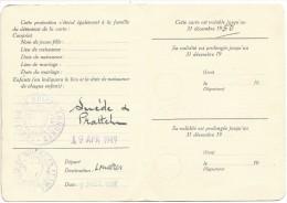 Carte D'immatriculation Faite Par La Légation Suisse De Paris Le 20 Décembre 1947 - Vieux Papiers