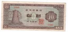 Korea 10 Won, N/D, Used. - Korea, South
