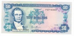 Jamaica, 10 Dollars 1994, AUNC - Jamaique
