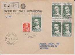 MB 2243) Italien Mi# 1139 (5) + Zusfr. FDC: Gabriele D'Annunzio (1863-1938) - Autres