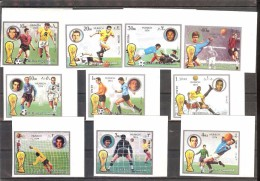 FUJEIRA  World Cup-74(Pele) Set 10 Stamps Imper.  MNH - World Cup