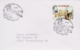 MB 2257) San Marino 1999 Mi# 1821 FDC: Georges BIZET, Carmen - Musique