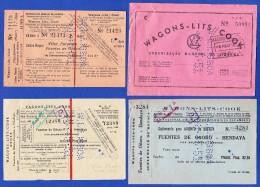 WAGONS-LITS // COOK . 8.MAIO.1951 -- LISBOA a VILAR FORMOSO / FUENTES DE O�ORO a HENDAYA